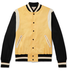 Golden Bear The Jackson Panelled Cotton-Twill Bomber Jacket