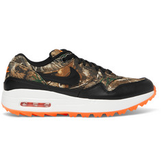 Nike Golf Air Max 1 Golf Realtree Camouflage Faux Leather-Trimmed Mesh Sneakers