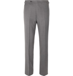 Husbands Grey Wool-Twill Trousers
