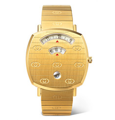 Gucci Grip 38mm Gold-Tone PVD-Coated Stainless Steel and Alligator Watch
