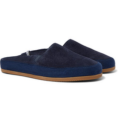 Mulo + Hamilton and Hare Shearling-Lined Suede Backless Slippers