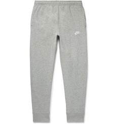 Nike Sportswear Club Tapered Mélange Fleece-Back Cotton-Blend Jersey Sweatpants
