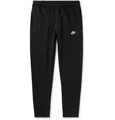 Nike Sportswear Club Slim-Fit Tapered Logo-Embroidered Cotton-Blend Jersey Track Pants