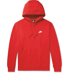 Nike Sportswear Club Logo-Embroidered Cotton-Blend Jersey Hoodie