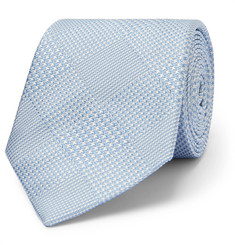 Richard James 7cm Prince Of Wales Checked Silk-Jacquard Tie