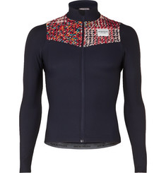 Cafe du Cycliste Clemence Knitted Panelled Stretch Cycling Jersey