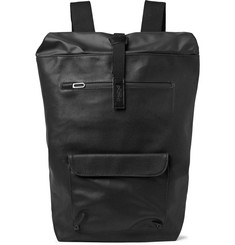 Brooks England Rivington Leather-Trimmed Coated Cotton-Canvas Backpack
