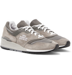 New Balance M997 Suede, Leather and Mesh Sneakers