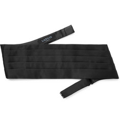 Lanvin Ritz Pleated Silk-Satin Cummerbund