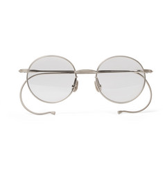 Native Sons Seeger Round-Frame Silver-Tone Sunglasses