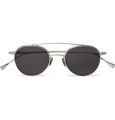 Native Sons Mr Mojo Round-Frame Silver-Tone Metal Sunglasses