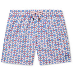 Pink House Mustique Printed Mid-Length Printed Swim Shorts