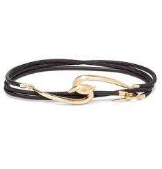 Shaun Leane Leather and Gold Vermeil Wrap Bracelet