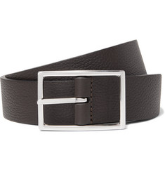 Anderson's 3cm Black and Dark-Brown Reversible Leather Belt