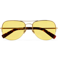 Moscot Noodge Aviator-Style Gold-Tone Sunglasses