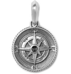 David Yurman Maritime Compass Sterling Silver and Diamond Pendant