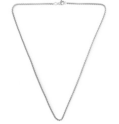David Yurman Sterling Silver Box Chain Necklace