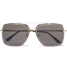 TOM FORD Aviator-Style Acetate and Gold-Tone Sunglasses