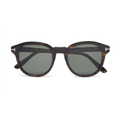 TOM FORD Round-Frame Tortoiseshell Acetate Polarised Sunglasses