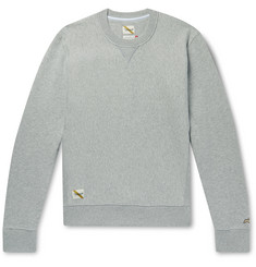 Tracksmith Trackhouse Mélange Fleece-Back Cotton-Blend Jersey Sweatshirt