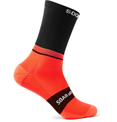 Soar Running Colour-Block Neon Softair Crew Socks