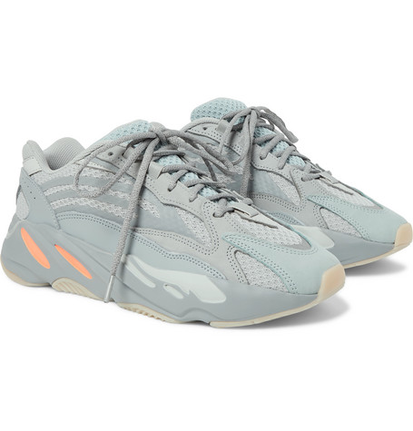 adidas Originals Yeezy Boost 700 V2 Suede, Mesh and Leather Sneakers
