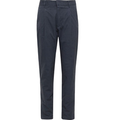 Entireworld Navy Pleated Cotton Trousers