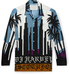 Wacko Maria + DJ Harvey Camp-Collar Printed Matte-Satin Shirt