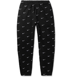 Nike NRG Tapered Logo-Embroidered Fleece-Back Cotton-Blend Jersey Sweatpants