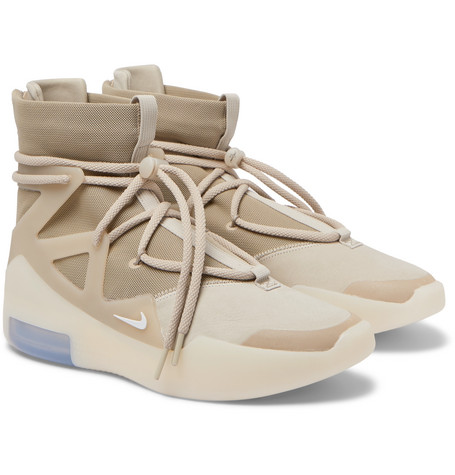 + Fear Of God Air 1 Mesh, Faux Nubuck And Rubber High Top Sneakers by Nike