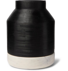 Ben Soleimani Ceramic and Marble Hurricane Vase