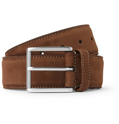 Anderson's 4cm Brown Suede Belt