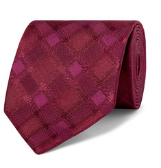 Charvet 8.5cm Checked Silk Tie