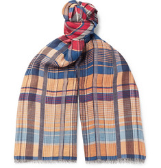 Missoni Fringed Checked Woven Scarf