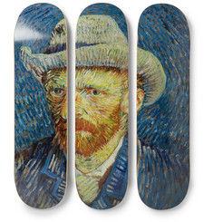 The SkateRoom + Vincent Van Gogh Set of Three Printed Wooden Skateboards