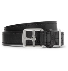 2.5cm Black Leather Belt by Anderson's