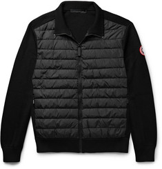 Canada Goose HyBridge Quilted Down Shell and Merino Wool Jacket