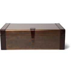 Ben Soleimani Leather-Trimmed Bronze Cufflink Box