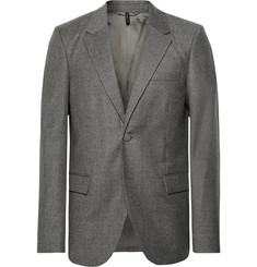 Helmut Lang Grey Unstructured Wool Blazer