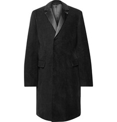 Helmut Lang Silk Satin-Trimmed Cotton-Moleskin Overcoat