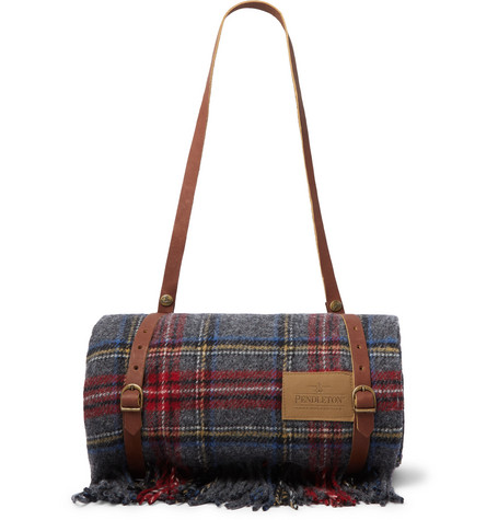 fringed-checked-wool-blanket by pendleton