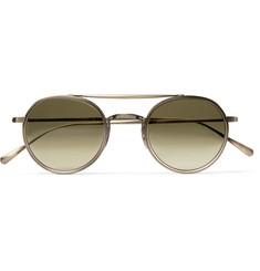 Mr Leight Lexington S Round-Frame Titanium Sunglasses