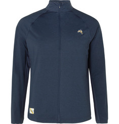 Tracksmith Session Mesh-Panelled Stretch-Jersey Track Jacket