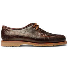 Noah + Sperry The Captain's Oxford Croc-Effect Leather Loafers