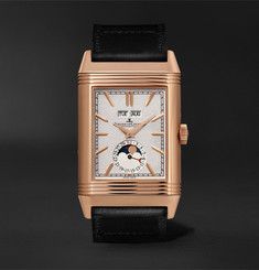 Jaeger-LeCoultre + Casa Fagliano Reverso Tribute Calendar Limited Edition Hand-Wound 29.9mm 18-Karat Rose Gold and Le