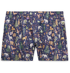 Sid Mashburn Printed Cotton-Poplin Boxer Briefs