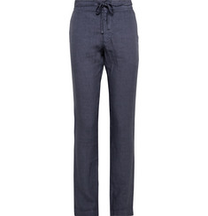 120% Slim-Fit Linen Drawstring Trousers