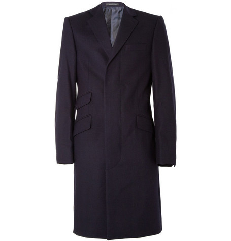 Richard James Herringbone Wool Overcoat