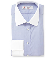Turnbull & Asser Cotton Shirt with Contrast Collar and Cuffs