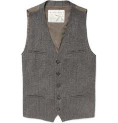 Aubin & Wills Sandbanks Herringbone Tweed Suit Waistcoat